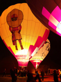 Hot Air Balloons at night Balloon Glow Gallup NM 1