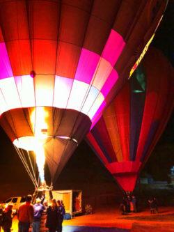 Hot Air Balloons at night Balloon Glow Gallup NM 2