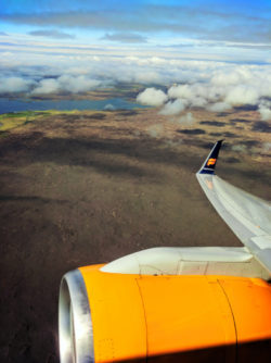 Iceland Air jet flying out of Rekjyavik Airpoirt Keflavik 1