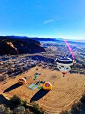 Morning hot air ballooning at Red Rocks Park Gallup NM 2