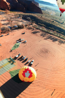 Morning hot air ballooning over Red Rocks Park Gallup NM 10