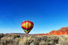 Morning hot air ballooning over Red Rocks Park Gallup NM 21