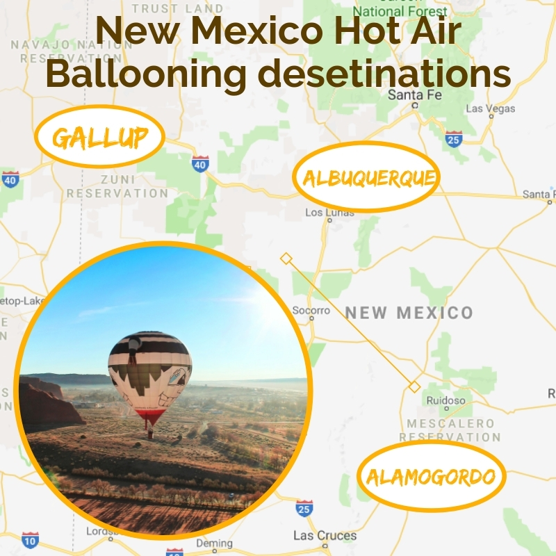New Mexico Hot Air Ballooning Map 2 Travel Dads