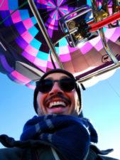 Rob Taylor at Morning hot air ballooning at Red Rocks Park Gallup NM 1