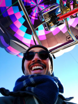 Rob Taylor at Morning hot air ballooning at Red Rocks Park Gallup NM 1