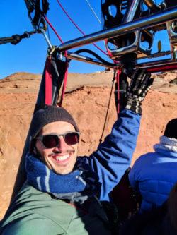 Rob Taylor at Morning hot air ballooning at Red Rocks Park Gallup NM 2