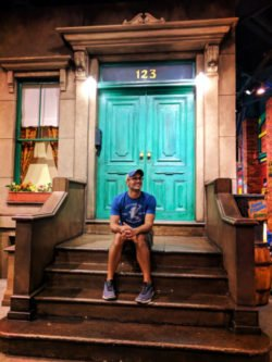 Rob Taylor at Sesame Street steps Strong Museum of Play Rochester NY 1