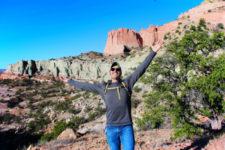 Rob Taylor hiking Pyramid Trail Red Rocks State Park Gallup NM 1