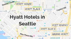 Seattle Hyatt Locations map