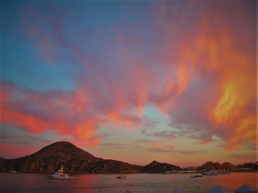 Sunset at Playa Medano Cabo San Lucas