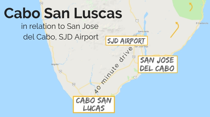 SJD to Cabo San Lucas map - 2 Travel Dads Cabos San Lucas Map on