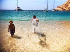 Taylor Family at Playa Santa Maria Cabo San Lucas Mexico 1