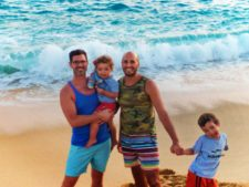 Taylor Family on beach at Playa Grande Cabo San Lucas 1