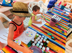 Taylor Family painting Mexican ceramics at Playa Grande Resort Cabo San Lucas 3