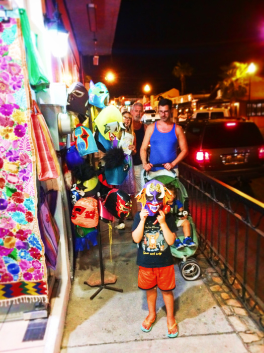 Taylor Family shopping for souvenirs downtown Cabo San Lucas 4