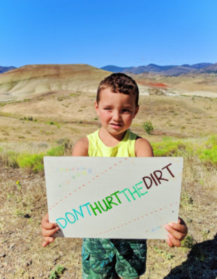 2TD Dont Hurt the Dirt at Painted Hills John Day Fossil Beds NM Dayville Oregon 3