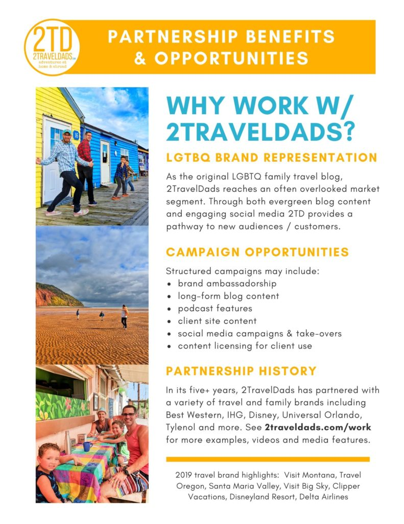 2TravelDads: the originial LGBT Family Travel blog - media kit