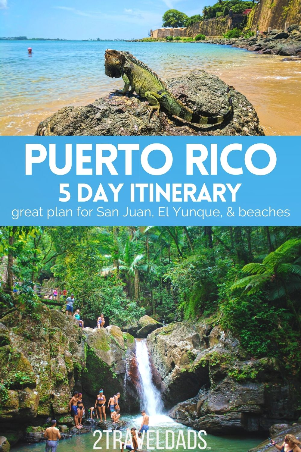 Perfect 5 day Puerto Rico itinerary for visiting Old San Juan, El Yunque National Rainforest and incredible beaches. Where to stay and things to do in Puerto Rico for an easy, amazing Caribbean trip