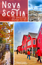 30+ awesome things to do in Nova Scotia with kids, travel in Halifax, Lunenburg, Peggy's Cove, the Bay of Fundy and more. The road trip around Canada that's perfect for photography, history and fall colors. #NovaScotia #halifax #bayoffundy