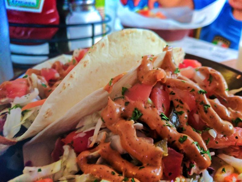 Ahi Tuna Tacos at Mango Mangos St Augustine Beach FL 1