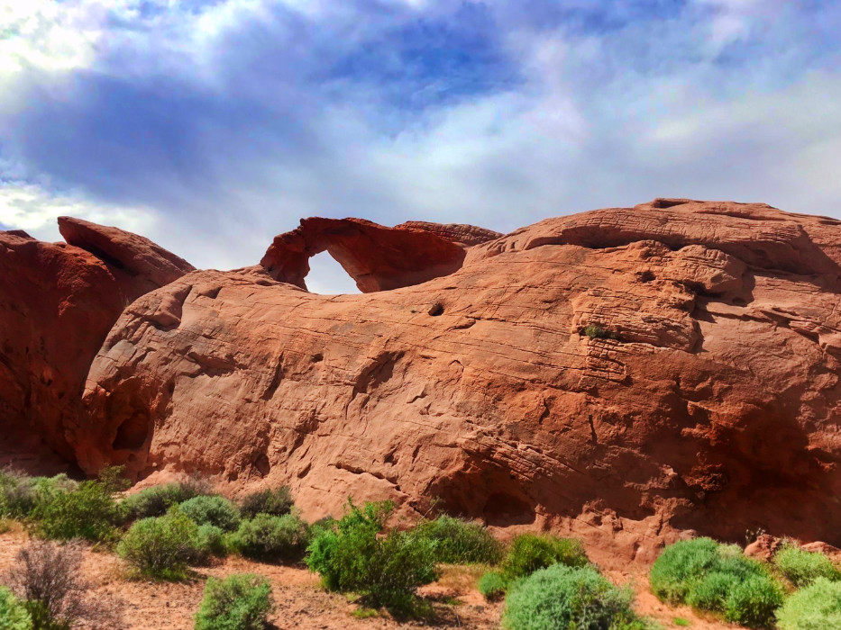 Arch Rock at Valley of Fire State Park Las Vegas Nevada 1