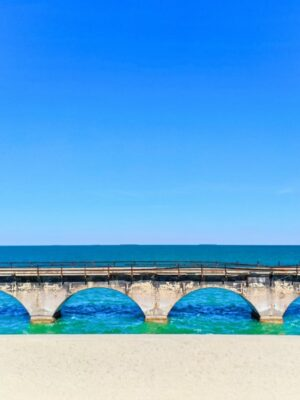Arched Bridge Old Channel 5 Turquoise Waters from the Overseas Highway Florida Keys 2020 4