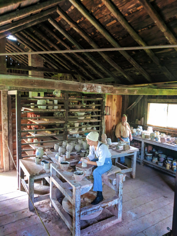 Artisan Potters working at Genesee Village Rochester New York 1