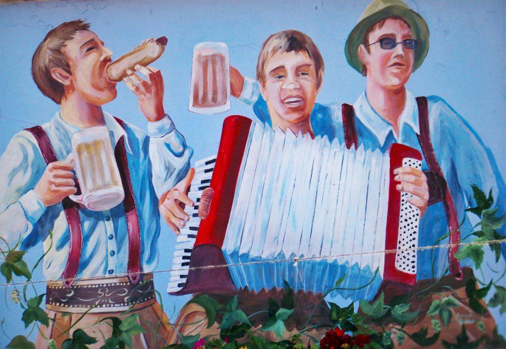 Bavarian Bratwurst Mural Munchen Haus 2