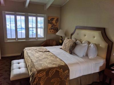 Bedroom of King Suite room at Best Western Island Palms Hotel San Diego California 1