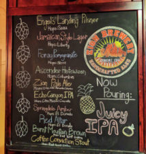 Beer Menu at Zion Brewing Co Springdale Utah 1