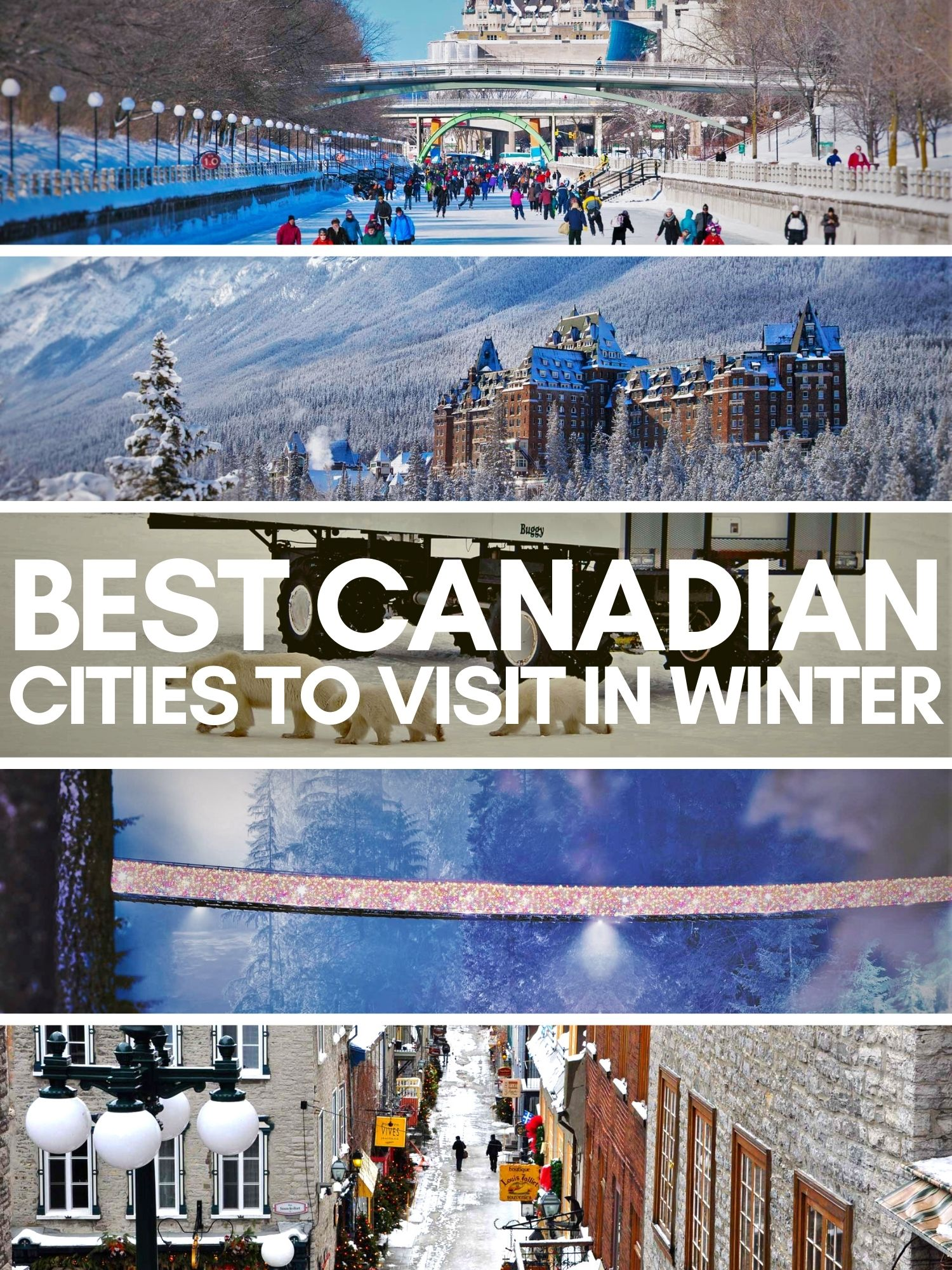 Canada may be cold in the winter, but these Canadian cities have unique things to do, ways to stay warm, and amazing hotels in the snow. Perfect Canadian adventures!