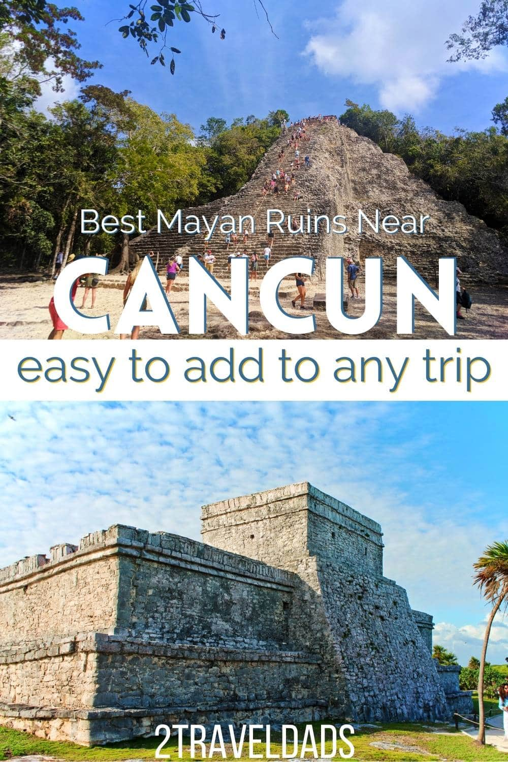 Add the best Mayan ruins near Cancun to a Yucatan vacation itinerary. From Cancun to Tulum, Mayan ruins are everywhere and are some of the most interesting things to do.