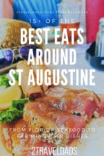 These are the best restaurants in St Augustine, from Florida seafood to the unique Minorcan cuisine. Best things to eat from beach food to distilleries. #Florida #seafood #restaurants