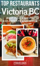 We've picked our favorite restaurants in Victoria, BC and are dishing out from breakfast to dinner. These are our top picks for where to eat in Victoria for local farm to table, vegetarian, and family friendly dining. See who we think makes the best breakfast cocktails or fish and chips in Victoria. #restaurants #food #Victoria #BritishColumbia
