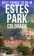 Estes Park, Colorado is an awesome escape from Denver. From hiking to fine dining and museums, these are the best things to do in Estes Park with kids or on a couples weekend getaway. #Colorado #vacation #mountains