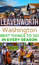 Leavenworth, Washington is loaded with things to do in winter and summer. It's the Pacific Northwest destination for every season, including budget travel and outdoor adventures. #hiking #resort #skiing #winter #summer