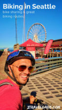 Nothing could be more PNW than #biking in Seattle. Using bike sharing with easy bike routes in Seattle is an ideal day outdoors. 2traveldads.com