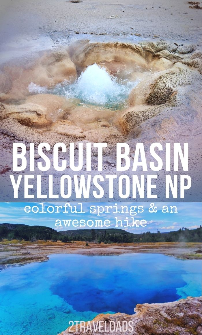 Biscuit Basin is one of the prettiest places in Yellowstone National Park and it's often overlooked. Find out what's at Biscuit Basin, hikes to do and tips for photographing geysers.