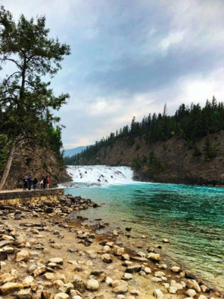 Bow Falls in Banff National Park Alberta 1