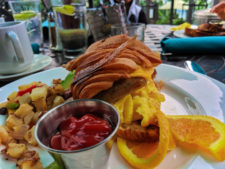 Breakfast croissant at Blue Cove Restaurant at Best Western Island Palms Hotel San Diego California 3