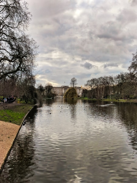 Buckingham Palace from St James Park London 1