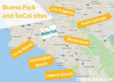 Map of Buena Park in relation of other SoCal sites