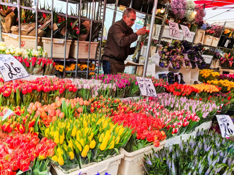 Bunches of Tulips at Columbia Road Flower Market East London 2