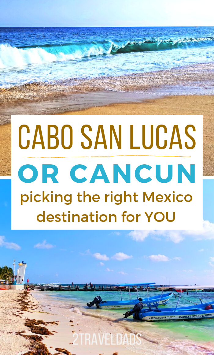 Find out if Cabo San Lucas or Cancun is the right Mexico vacation destination for you. Maps, things to do in Cancun and Cabo, transportation and travel tips to Mexico. #Mexico #cancun #cabo #vacation