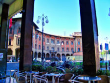 Cafe Seating near Pisa Centrale Train Station Pisa Italy 1