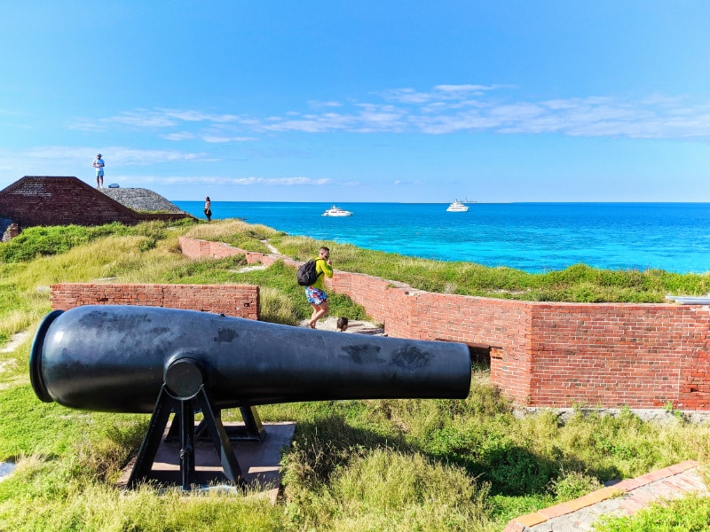 Cannon and Turquoise waters around Dry Tortugas National Park Key West Florida Keys 2020 1