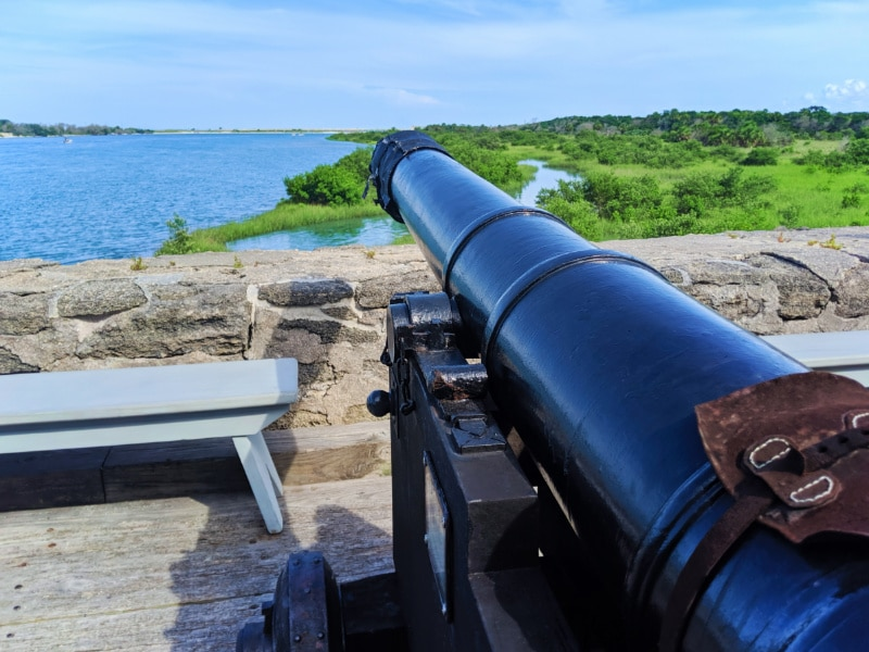 Cannon at Fort Matanzas National Monument St Augustine FL 3