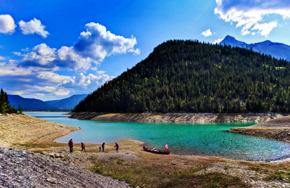Canoeing Barrier Lake with Kananaskis Outfitters Canmore Alberta 1