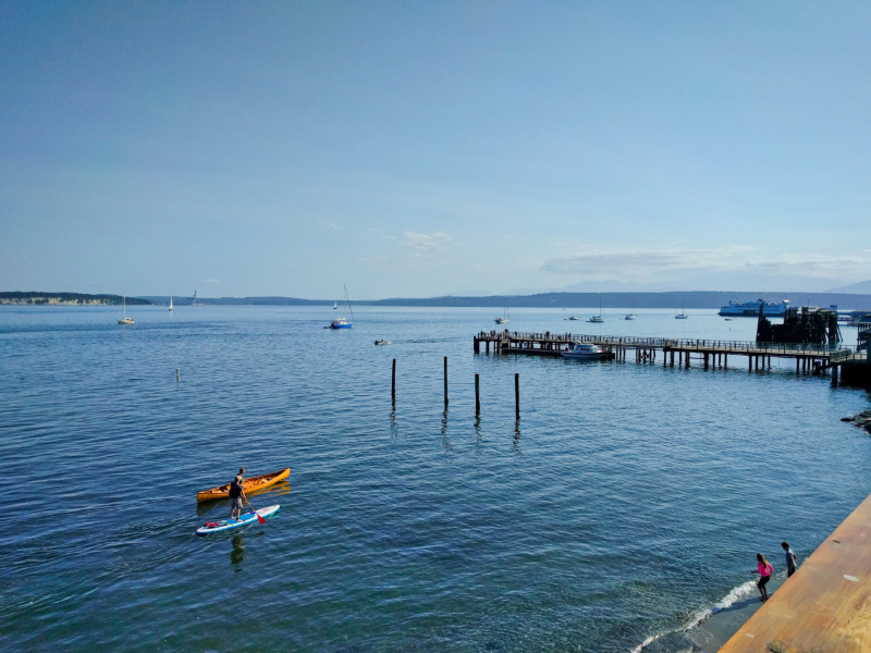 Canoeing and SUP by Waterfront in Port Townsend Washington 2