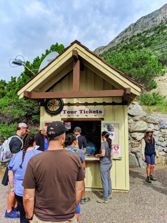 Cave Tour ticket booth at Lewis and Clark Caverns State Park Montana 1